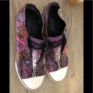 Ed Hardy fun designer slip on shoes US 8